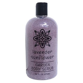 Greenwich Bay LAVENDER SUNFLOWER Body Scrub, Enriched with Moisturizing Shea Butter and Blended with Exfoliating Loofah, Garden Collection 16 oz