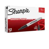 Sharpie Permanent Markers Super Black Pack
