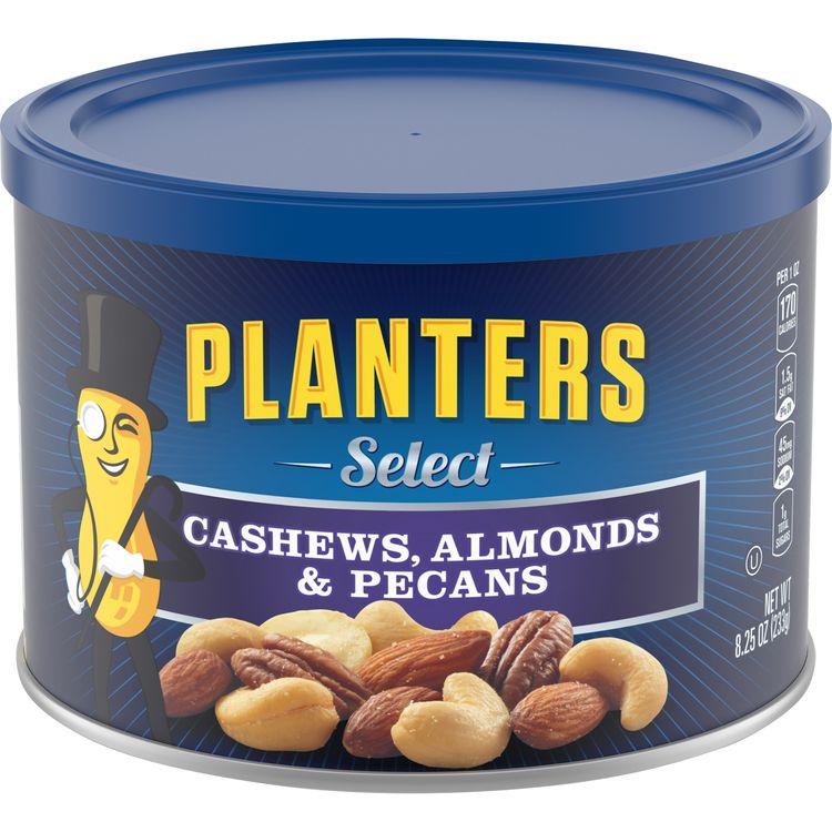 Planters Select Cashews, Almonds & Pecans Nut Mix Canister