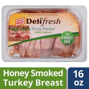 Oscar Mayer Deli Fresh Honey Smoked Turkey BreastLunch Meat, 16 oz Package
