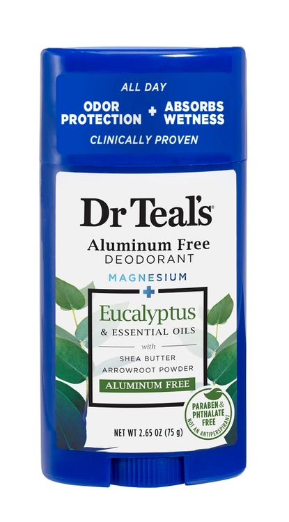 Dr Teal's Aluminum Free Deodorant, Eucalyptus, 2.65 oz