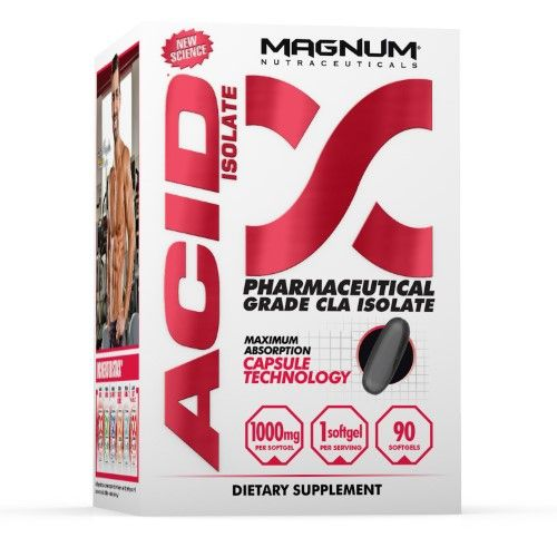Magnum Nutraceuticals Acid Fat Burner Pharmaceutical Grade CLA Isolate - 90 Softgels Fat Mobilizer Metabolic