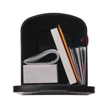 Gibraltar Mailboxes Stalwart Medium, Plastic, Post Mount Mailbox, Black, T1P00B00