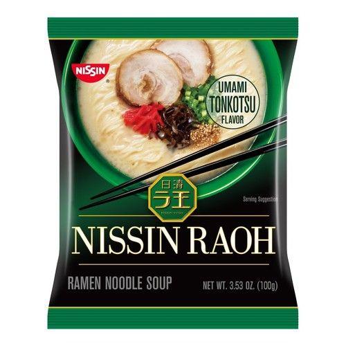 Nissin RAOH Ramen Noodle Soup, Umami Tonkotsu, 1 Pack (8 ea )