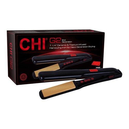 CHI G2 Ceramic & Titanium Infused Hairstyling Iron - 1 1/4 in.
