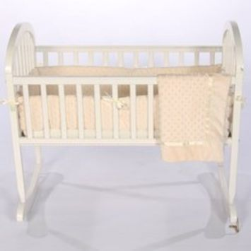 Babykidsbargains Heavenly Soft Cradle Bedding, Ecru, 18