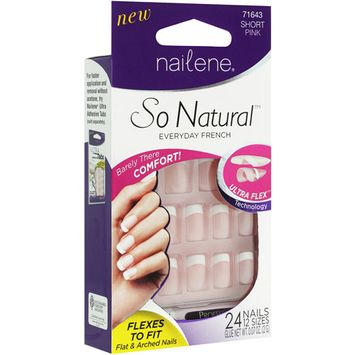 Nailene So Natural Ultra Flex Nail, Pink French Short