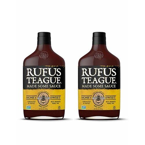 Rufus Teague: BBQ Sauce - 16oz Bottles - Premium BBQ Sauce - Natural Ingredients - Award Winning Flavors - Thick & Rich Sauce - Gluten-Free, Kosher, Non-GMO (Honey Sweet, 2 Pack)