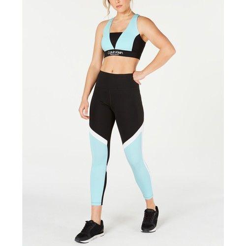 Colorblocked Cross-Back Sports Bra & Leggings