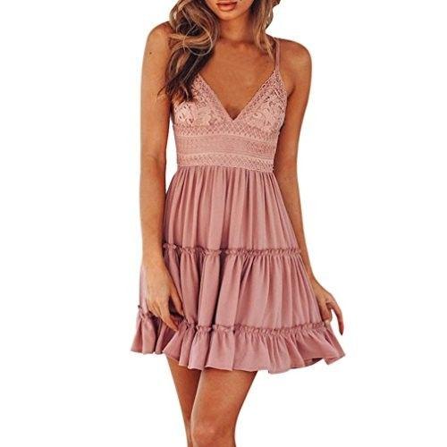 Summer Dress,Showking Women Summer Backless Mini Dress Evening Party Beach Sundress Dresses