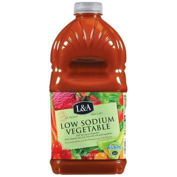 L&A 100% Juice, Low Sodium Vegetable, 64 Fl Oz, 1 Count