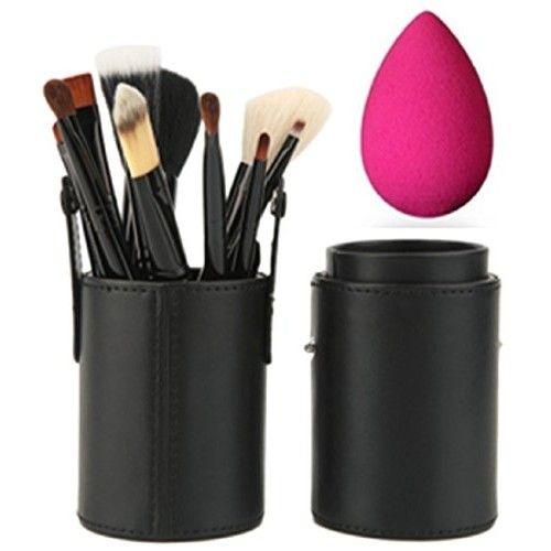 Set de 12 Brochas De Maquillaje Profesional Nuevo Diseño en Lata Colorida Cerdas Super Suaves Para Mujer de Verano 2018