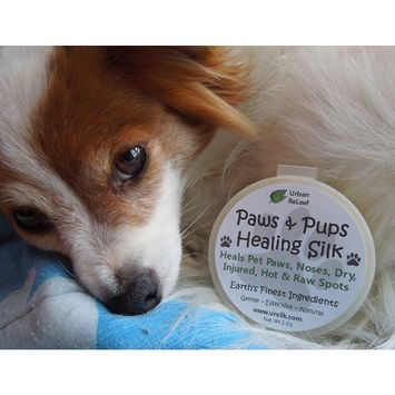 PAWS & PUPS HEALING SILK! Heal & Protect Pet Paws, Dry, Injured, Hot & Raw Spots. Gentle 100% NATURAL Balm 2 oz Cream Lotion SALVE! Vegan, Vitamin rich. Earth's finest ingredients. Organic Shea Butter, Coconut & Olive Oil, Soy Wax, Botanicals. Softens crusted skin. HEALS! Mushing, Walks, Rescues, Best Friends!