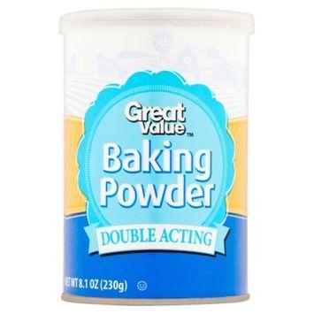 Great Value Double Acting Baking Powder 8.1 oz