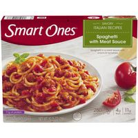 Smart Ones Spaghetti With Meat Sauce, Frozen Meal, 10.25 oz Box