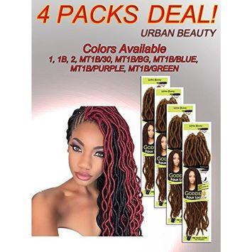 4 Packs of Urban Beauty NaturAll Goddess Faux Locks 18