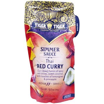 Tiger Tiger, Simmer Sauce, Thai Red Curry, 10.5 oz (300 g) [Flavor : Thai Red Curry]