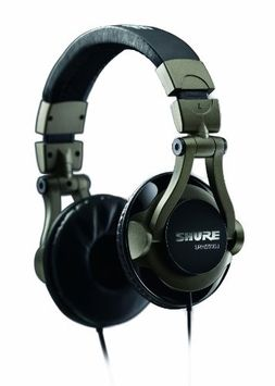 Shure SRH550DJ DJ Headphones - Stereo - Smokey Gray - Mini-phone - Wired - 32 Ohm - 5 Hz 22 kHz - Gold Plated - Over-the-head - Binaural - Supra-aural - 6.56 ft Cable