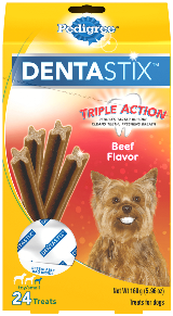 Pedigree® Dog Treats DENTASTIX™ Beef Flavor (Toy/Small)
