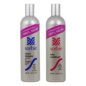 Sorbie Cleane Shampoo & Riche Conditioner 16.9oz