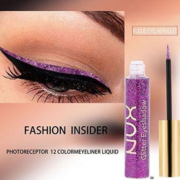 Creazy Metallic Shiny Smoky Eyes Eyeshadow Waterproof Glitter Liquid Eyeliner (F)