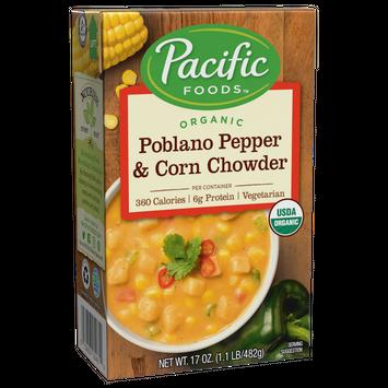Pacific Foods Organic Poblano Pepper & Corn Chowder
