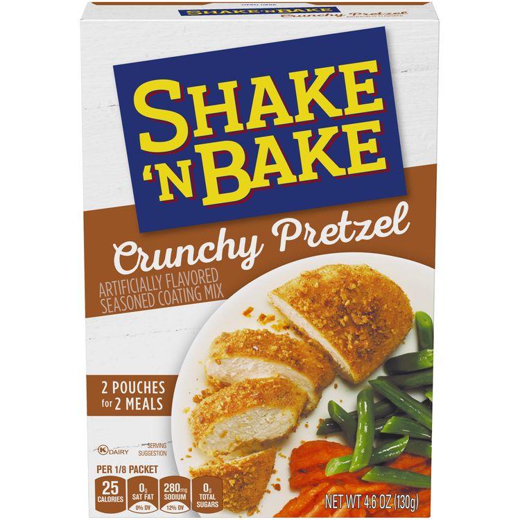 Kraft Shake 'N Bake Crunchy Pretzel Seasoned Coating Mix, 2 ct - Pouches, 4.6 oz Box