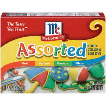 McCormick Assorted Food Color, 1 Fl Oz