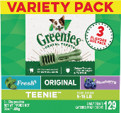 Greenies™ 3-Flavor Variety Pack Teenie™ Size Dog Dental Treats