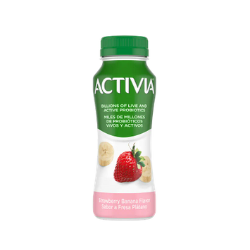 Activia Drink Straw Ban 7Oz (12Ct)