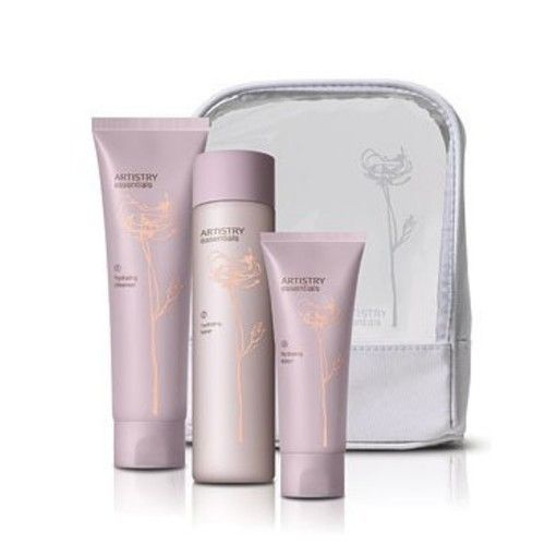 ARTISTRY Essentials Hydrating Skincare System for Cleansing and Hydrating skin, Cleanser, Toner and Lotion by Amway