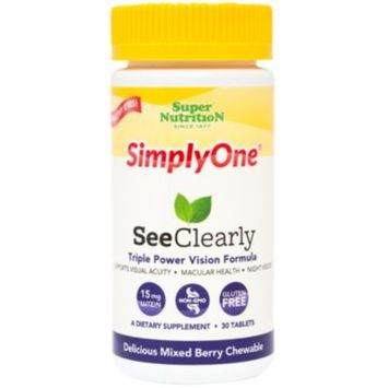 See Clearly 15 MG LUTEIN (30 Tablets) by Super Nutrition at the Vitamin Shoppe