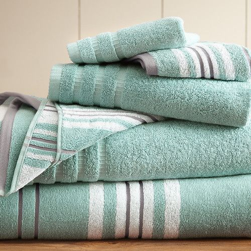 eLuxury - 6-Piece Yarn Dyed Towel Set Racer Stripe | Available in Various Colors
