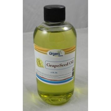 Grapeseed Oil - 100% Pure and Organic - Cold Pressed Grape seed Oil 8 Oz