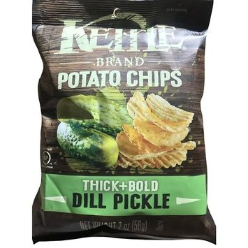 Kettle Cooked Thick & Bold Dill Pickle Potato Chips Net Wt 2 Oz