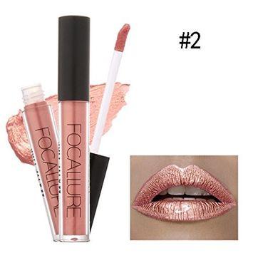 eshion New Fashion Pro Lipstick Cosmetics Women Sexy Lips Metallic Lip Gloss