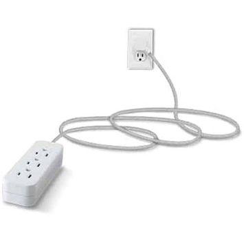 GE Pro Designer USB Extension Cord, 10ft, 2 Outlets + 2 USB, 38432