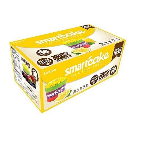 LEMON SMARTCAKE (16 cakes): Sugar free, gluten free, low carb, keto snack cake