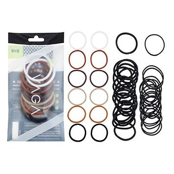 Great Value High Quality Set of 48 Endless Snag Free Hair Bobbles Elastics Bands Styling Styles In Black And Neutral Colors By VAGA