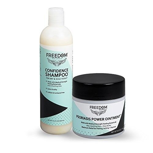 FREEDOM Naturals Confidence Shampoo + Psoriasis Power Ointment Bundle