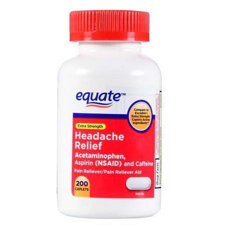 Equate Headache Relief Caplets, 200 Count