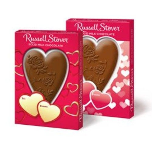 RUSSELL STOVER SOLID MILK CHOCOLATE HEART IN A BOX