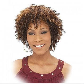 IT'S A WIG Human Hair Wig - AFRO CURL Color - #1 - Jet Black