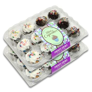 Fresh Baked Mini Cupcakes- 2 Packages (Chocolate)