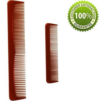 Hair Comb For Men & Women with Straight or Curly Hair Styling Comb Set With Detangling Shampoo Wide Tooth Comb & Pocket Fine Tooth Comb. Anti-Static + Anti-Breakage Hair Care for Wet or Dry Hair