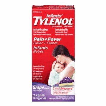 Children's TYLENOL Pain + Fever Acetaminophen Oral Suspension, Grape, 2 fl oz