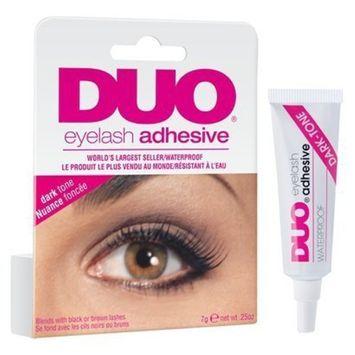 Duo Eyelash Adhesive, Dark Tone - 0.25 Oz (Pack of 2)