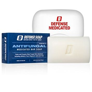 Defense Antifungal Medicated Bar Soap | FDA Approved Treatment for Athlete's Foot Fungus and Intensive Treatment for Fungal Infections of The Skin....