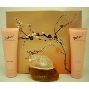 Delicious by Beverly Hills for Women 3 piece set (Eau De Toilette 3.3 oz + Body Lotion 3.3 oz. + Shower Gel 3.3 oz.)