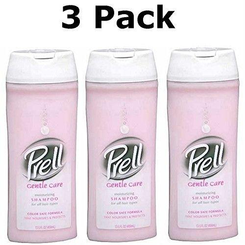 Prell Gentle Care Moisturizing Shampoo, Color Safe Formula, 13.5 Oz (Pack of 3)